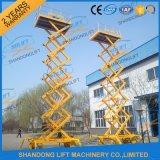 Levage automatique mobile électrique vertical hydraulique de ciseaux avec du ce