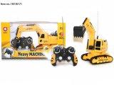 Brinquedos de escavadeira de controle remoto de 4 canais com USB para crianças