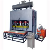 박판으로 만드는 멜라민 최신 압박 Machiner/목공 기계장치가 1200t에 의하여 주기 베니어 누전한다