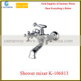 Croix double bassin de la poignée du robinet robinet avec de l'ACS approuvé pour la salle de bains