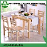 conjunto moderno de los muebles del vector de cena de los muebles de madera de roble 7PC