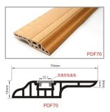 7cm Nail Hidden 물 Proof PVC Skirting Floorng Profiles