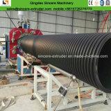 Perfil de HDPE reforzado costilla Tubo Corrugado espiral máquina de producción