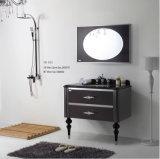 Nouveau ruban noir de conception de mode sur le Cabinet reflété par salle de bains moderne de tiroirs de l'acier inoxydable deux de mur (YB-913)