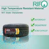 タイヤ高温抵抗力がある白いラベル、タイヤの治療のラベル