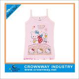 Het populaire Roze Hoogste Vest van Cami van het Meisje breit met Leuke Druk
