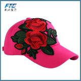 Роуз вышивка Red Hat женщин и мужчин - Регулируемый хлопка цветочный бейсбола винты с головкой