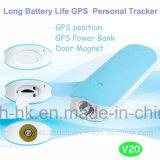 perseguidor del GPS de la batería de la potencia de 2g G/M 4500mAh con la alarma de ladrón de la puerta V20