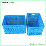 50kg de plástico empilháveis caixas de frutas para acondicionamento e armazenamento