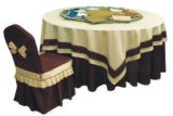 Restaurante elegante sala de jantar pano de mesa duplo