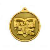 Medalla antigua del metal del bronce 3D de las ventas calientes
