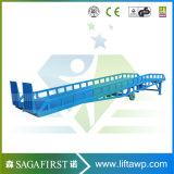niveleur hydraulique mobile de dock de conteneur de camion de 10ton 15ton