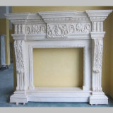 Bordi naturali di marmo bianchi del camino di pietra della Cina