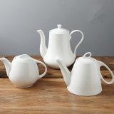 純粋で白い陶磁器のコーヒー鍋の茶鍋の磁器のコーヒー鍋