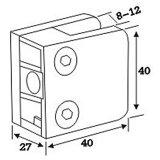 ステンレス鋼手すりシステム(CR-052)のためのガラスブラケットクランプ