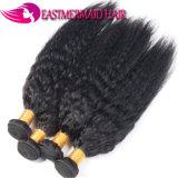 7Aミンクの等級の倍のWeft漆黒のインドのバージンの毛