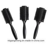 Brosse à cheveux de vente chaud ensemble brosse à cheveux en bois noir pour un salon de coiffure