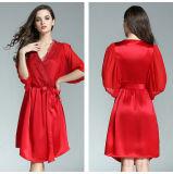 Платье пижам Способа Sleepwear Робы Женщины 100% высокого качества повелительницы Silk