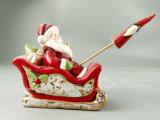 LEIDENE Aangestoken Ceramische Ambachten voor Christams, de Kerstman voor de Decoratie van Kerstmis