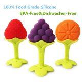 100% Grau Alimentício Silicone mordedor para bebê mordedor para Design de frutas