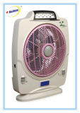 Ventilateur de bureau rechargeable cool de 12 pouces avec éclairage de secours