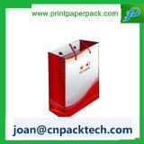 Bolso reutilizable de las compras de papel de la maneta