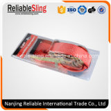 Ce ISO de 2 pulgadas de GS 5000 Kg de amarre de plástico de color naranja con llave de carraca