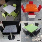 Weißer künstlicher Steinkantine-Cafeteria-Tisch
