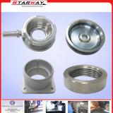 Pieza de mecanizado del CNC del acero inoxidable de la precisión de encargo con la fábrica de Shangai (SW-AC-003)