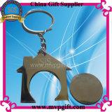 Anello chiave della tessile con Wovern/marchio del ricamo