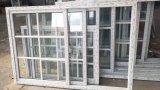 China as vendas directas melhores preços do vidro corrediço UPVC com churrasqueiras branco