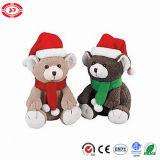 Vacances Cute Teddy Bear assis Jouet Jouet pour enfants de cadeaux de Noël
