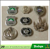 Shape rotondo Antique Brass Color Metal Badges da vendere