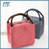 Sacchetti del dispositivo di raffreddamento di picnic dell'alimento isolati banda della tela di canapa del sacchetto del pranzo