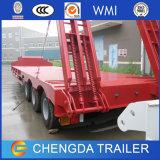 El transporte máquina pesada Lowbed excavadora remolque cuello de cisne para Construcción