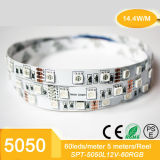 5m 5050SMD RGB 방수 IP65를 가진 유연한 LED 리본 테이프 장비