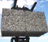 Collegare della maglia di Gabion che recinta la casella di pietra di Gabion della rete metallica