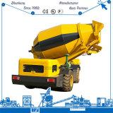 Beton mélangeur 3,5 m3 auto chargement de camion bétonnière mobile pour la vente