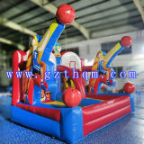 Custom Commercial Inflatable Bounce House avec Basketball Hoop / Jumping Castle