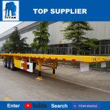 Véhicule de titan - remorque à plat de 60 tonnes de Tri-Essieu de conteneur bon marché de cargo à vendre au Pakistan