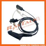 Écouteur de nécessaire de surveillance de talkie-walkie avec de grandes PTTs de revers pour Motorola, Kenwood, Icom, Hytera, Sepura etc.