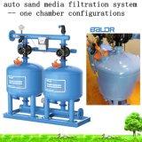Автоматическая 2 цилиндра 36-дюймовый кварцевый песок средств массовой информации обратная промывка системы фильтрации для капельного орошения воды
