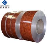 Personalizar PE/PVDF pintados de color/pintura/Tiras de la bobina de aluminio para placa de sólido muro cortina de grano de madera paneles de techo