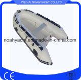 Preiswerter Hypalon Rippen-Boots-steifer Fiberglas-Rumpf-aufblasbares Boot mit Jockey-Konsole für Verkauf