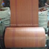 Farbiger Polypropylen gesponnener Sack 50kg in Rolls