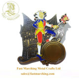 スポーツのためのカスタマイズされたリボンのフィニッシャーのエナメルの紋章のダンスメダル