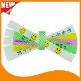 Pulsera barata de los Wristbands de la identificación del VIP del partido de Tyvek Customed de la hospitalidad (E3000-2-21)