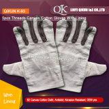 K-91 5PCS потоков Canvas рабочей безопасности хлопок перчатки с хлопка