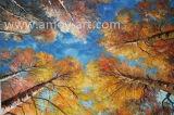 壁の装飾のための現実的な木の葉のキャンバスの油絵