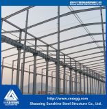 Edificio de acero de la estructura de azotea del palmo grande con el solo suelo para el almacén, taller